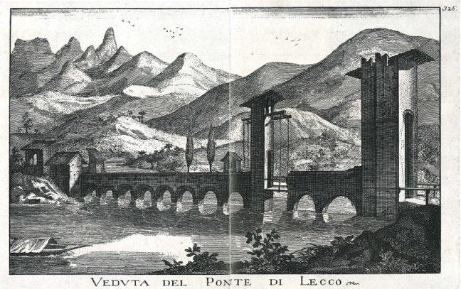 7f13ddba46827 LECCO – Questo episodio della storica rubrica di Lecco News Lecco Ieri Oggi  è dedicato ad una rara raffigurazione del ponte Azzone Visconti come si ...